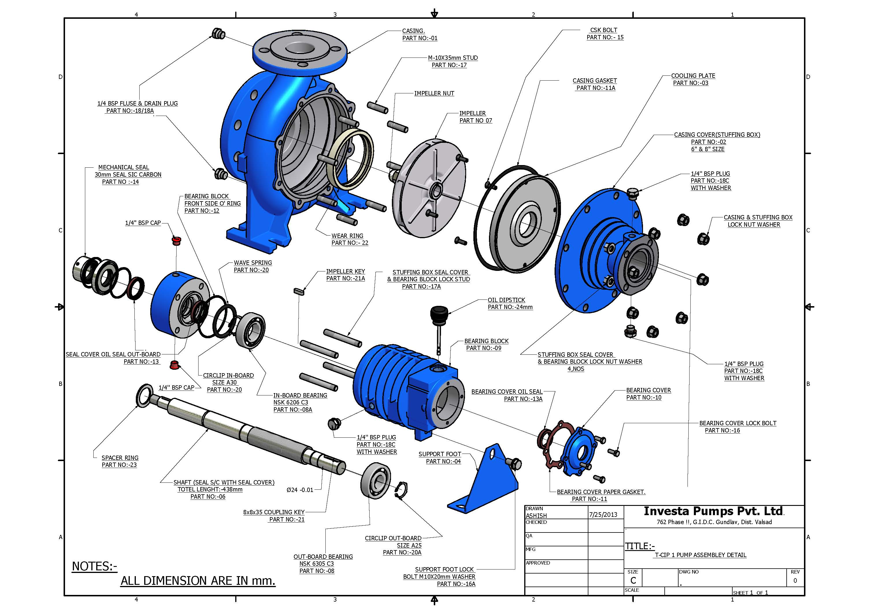 Thermic Flluid Pump Exploded view